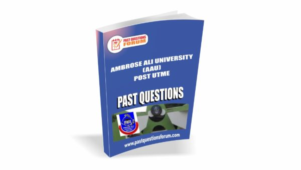 AAU Post UTME Past Questions