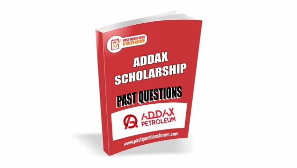 ADDAX Scholarship Past Questions