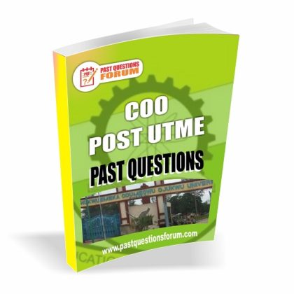 Chukwuemeka Odumegwu Ojukwu University COOU Post UTME Past Questions