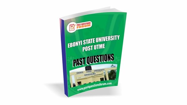 EBSU Post UTME Past Questions