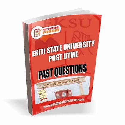 Ekiti State University EKSU Post UTME Past Questions PDF Download