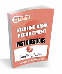 Sterling Bank Recruitment Past Questions