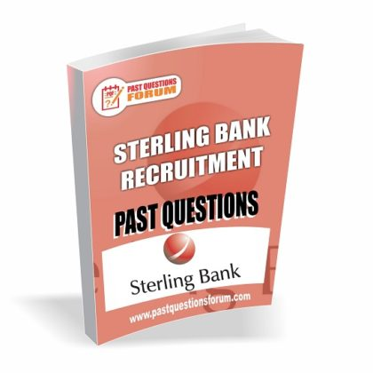 Sterling Bank Recruitment Past Questions Answers PDF Download Updated