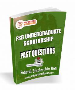 FSB Undergraduate Scholarship Past Questions