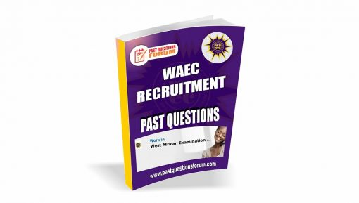 WAEC Recruitment Past Questions