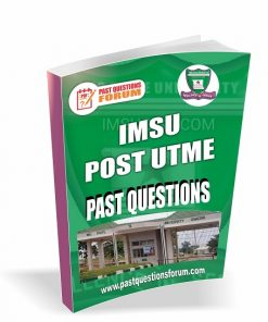IMSU Post UTME Past Questions
