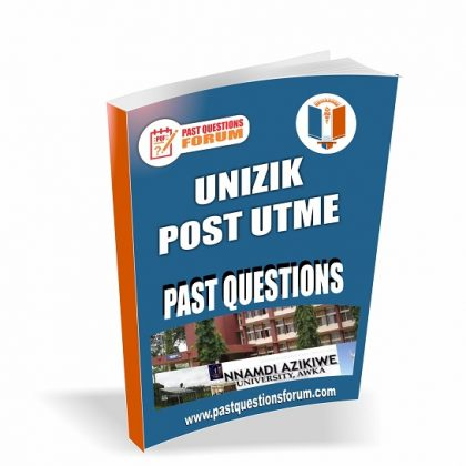 UNIZIK Post UTME Past Questions and Answers Download Nnamdi Azikiwe University Post UTME Past Questions