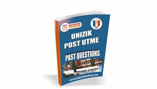 UNIZIK Post UTME Past Questions