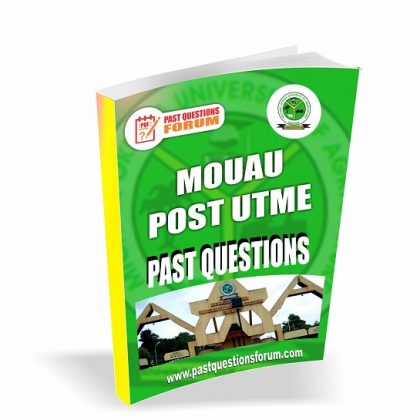 MOUAU Post UTME Past Questions and Answers | Michael Okpara University of Agriculture, Umudike Post UTME Past Questions 2020/2021