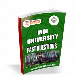 Moi University Past Questions Paper