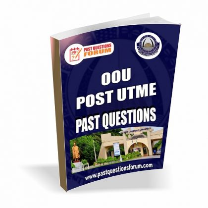 Olabisi Onabanjo University OOU Post UTME Past Questions and Answers PDF Download 2020