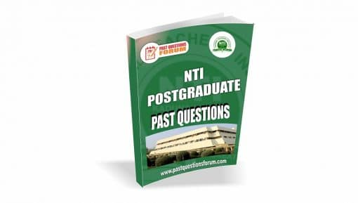 NTI PGDE Past Questions