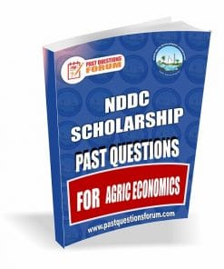 NDDC Scholarship Past Questions for AGRIC ECONOMICS