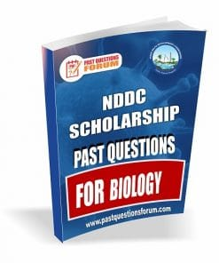 NDDC Scholarship Past Questions for BIOLOGY