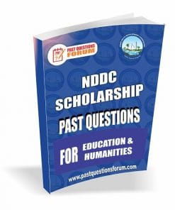 NDDC Scholarship Past Questions for EDUCATION AND HUMANITIES