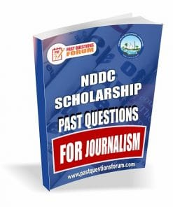 NDDC Scholarship Past Questions for JOURNALISM