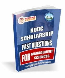 NDDC Scholarship Past Questions for MANAGEMENT SCIENCE
