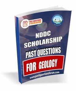 NDDC Scholarshp Past Questions for GEOLOGY