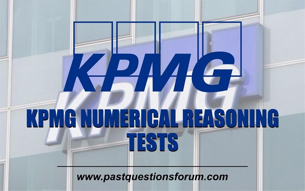 KPMG Numerical Reasoning Tests